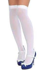 Thigh high stockings.