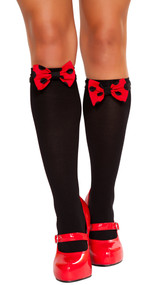 Polka dot bow topper for stockings.