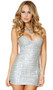 Strapless sparkle sequin mini dress with sweetheart neckline. Pullover style.