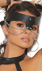 Leather and chain mask.