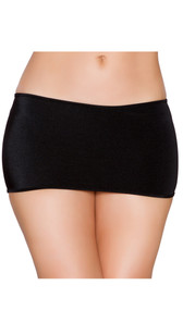 Stretch mini skirt, pull up style.