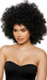 Black afro style wig with curls. Unisex synthetic wig.