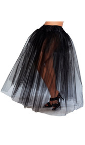 Full length petticoat with three layers.