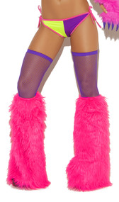 Furry boot covers.