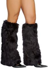 Knee high faux fur leg warmer.