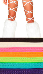 """Solid color thigh high leg wraps. These 100"""" long straps wrap around the leg and tie behind the ankle or under the foot. You can make them go as high up or low on the leg as you like depending on how you wrap them."""
