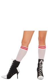 Athletic style Nylon knee sock.