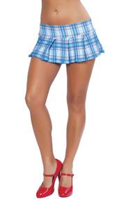 Pleated pull-up mini skirt.