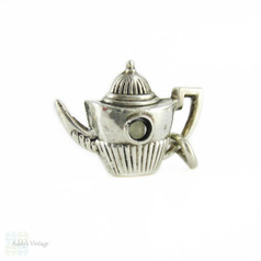 Antique Stanhope Charm as Sterling Silver Teapot with St. Paul's Catherdral.