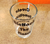 Biohack The Planet Shot Glass