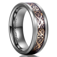mens tungsten wedding bands silver rose gold celtic, mens tungsten ring rose gold celtic