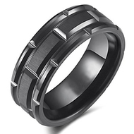 mens tungsten wedding bands black brick, mens tungsten ring black brick pattern