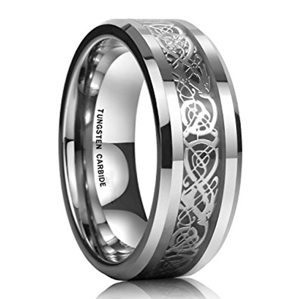 11995: Bands Celtic Black Wedding Tungsten With At Websimilar.org