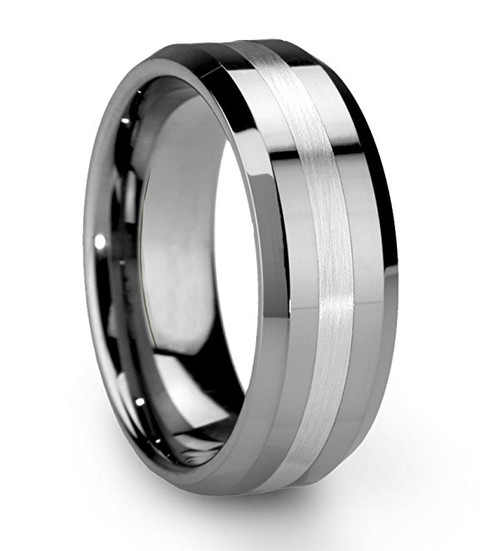 Silver / Gray Tone Wedding Bands / Rings