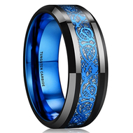 mens tungsten wedding bands blue, mens tungsten ring blue and black celtic