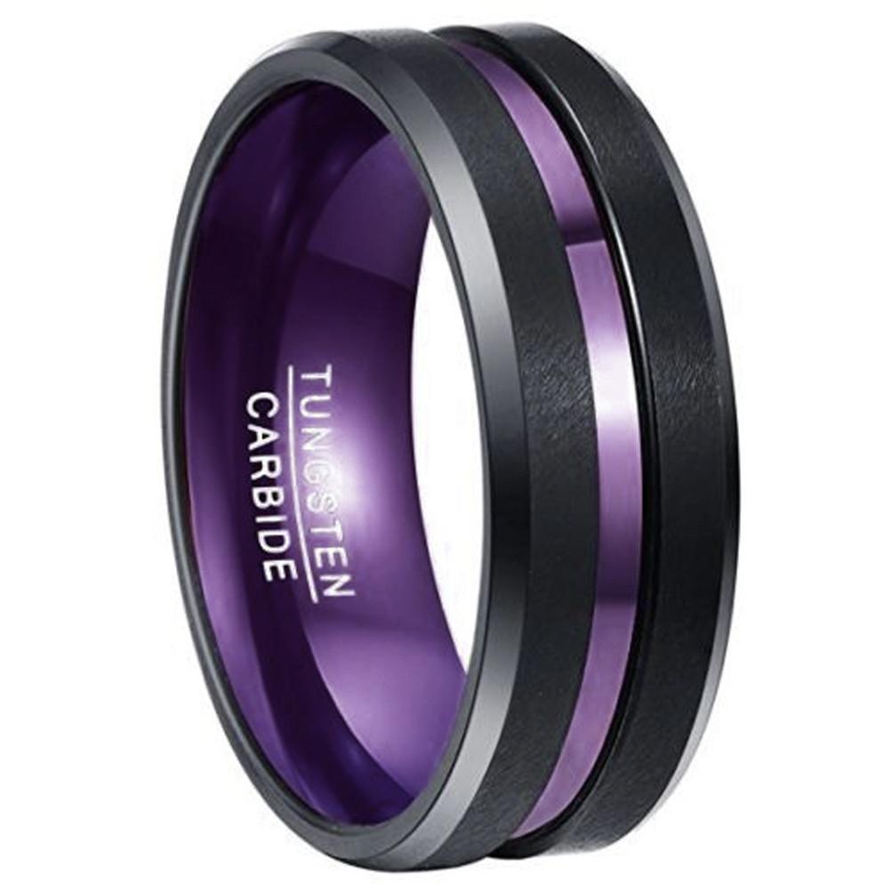 8mm Unisex Or Men S Wedding Tungsten Band Black Matte
