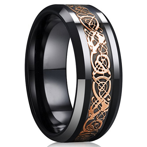 8mm Unisex Or Men S Ceramic Wedding Band Celtic Wedding