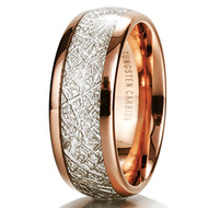 women and mens tungsten wedding bands rose gold meteorite, womens or mens tungsten ring meteorite rose gold