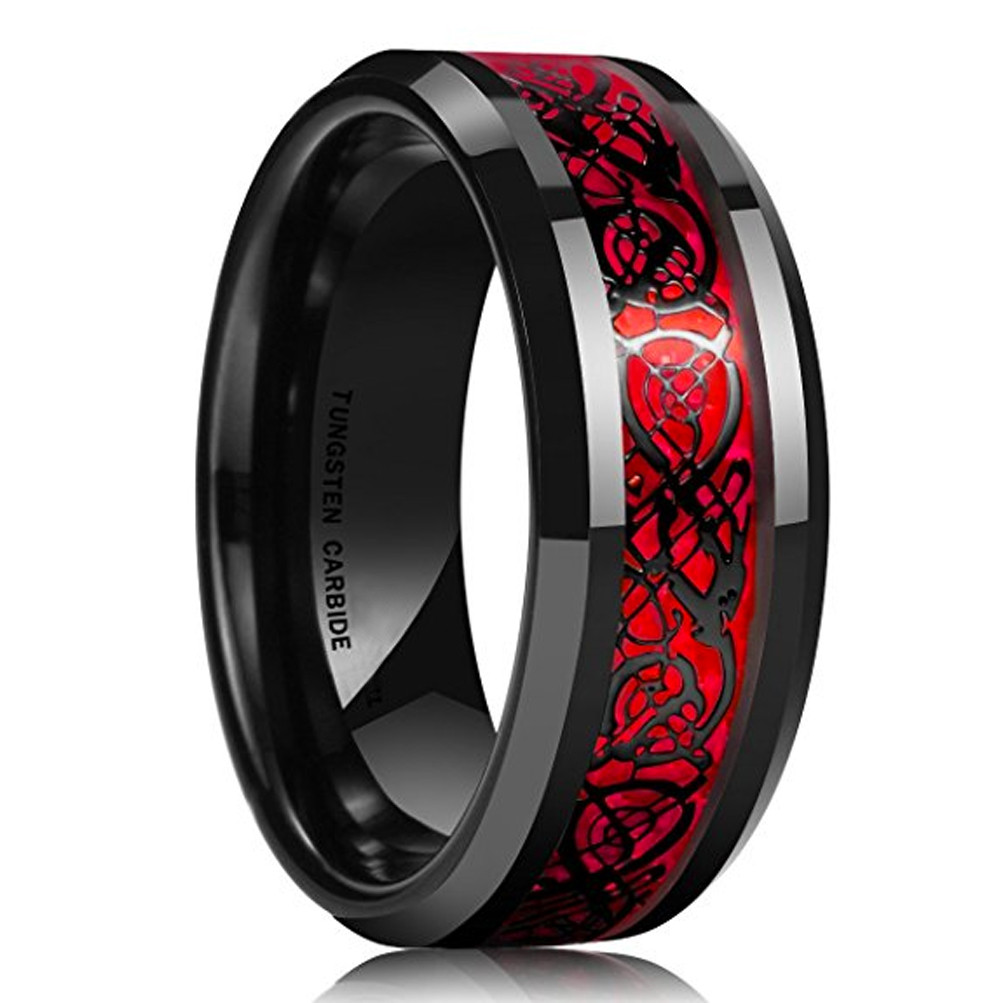 16995: Bands Celtic Black Wedding Tungsten With At Websimilar.org