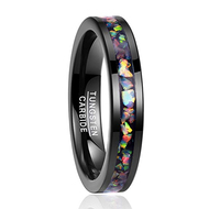 womens tungsten wedding bands rainbow, mens tungsten ring rainbow, rainbow wedding band rings