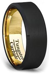 mens tungsten wedding bands black, mens tungsten ring black, black tungsten carbide rings men