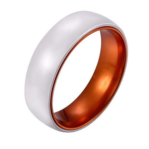 8mm Unisex Or Men S Ceramic Wedding Bands White Band