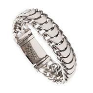 """9"""" Inch Length - Titanium Bracelet Mens - Titanium steel / Biker Silver Punk Anchor link bracelet."""