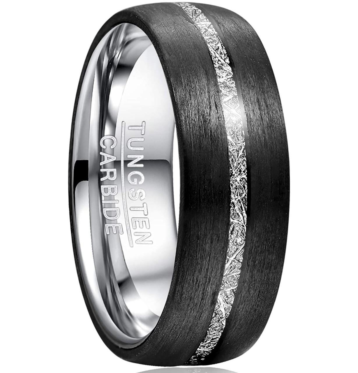 Tungsten Wedding Band Mens Wedding Band Ring 8mm Wedding Band Ring Unisex Wedding Band Polished Tungsten Silver Ring Mens Wedding Band Ring