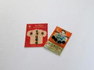 2 Gents/men's shirt button cards - studs