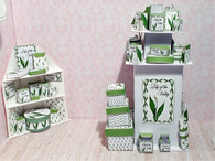 Lily of the Valley set of 2  Shop Perfume Display Stands