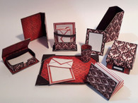 Download  - Desk Necessities -Modern Stationery - Burgundy