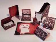 Kit  - Desk Necessities -Modern Stationery - Burgundy