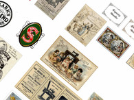 Download -Vintage Haberdashery Digital Collage, adverts,posters,signs