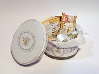 Kit - 1/12th dollhouse wedding/bridal hat/keepsake box & haberdashery-Modern