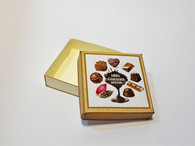 Square Chocolate Box Gold