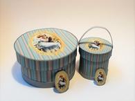 Download - Romantic Hat Boxes Blue