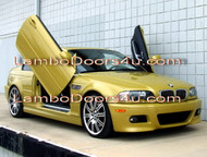 BMW E46 3 Series Vertical Lambo Doors Bolt On 98 99 00 01 02 03 04 05 06