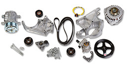 LS COMPLETE ACCESSORY DRIVE KIT Includes SD7 A/C Compressor, Alternator, P/S Pump, Tensioner, Belt, & Pulleys