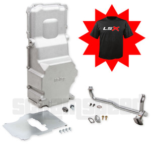 Holley 302-3 LS Engine Swap Oil Pan with drains and stroker clearance