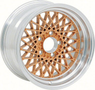 "16"" X 8"" Gold GTA Style Alloy Wheel with 4-3/4"" Backspacing and 0mm Offset"