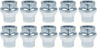 "12MM - 1.50 R15 Lug Nut with 1/4"" Shank - For Use With Spacers - Kit of 10"