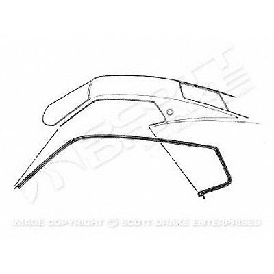 PAIR ROOFRAIL WEATHERSTRIPS; 67-68 MUSTANG FASTBACK