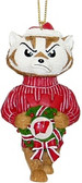 Wisconsin Badgers Mascot Wreath Ornament