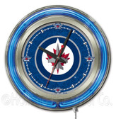 Winnipeg Jets Neon Clock