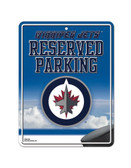 Winnipeg Jets Metal Parking Sign
