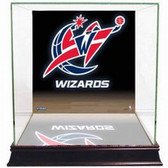 Washington Wizards Logo Background Glass Basketball Display Case