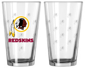 Washington Redskins Satin Etch Pint Glass Set