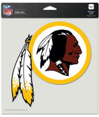 "Washington Redskins Die-Cut Decal - 8""x8"" Color"