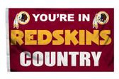 Washington Redskins 3'x5' Country Design Flag