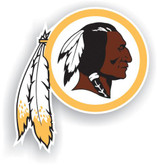 "Washington Redskins 12"" Vinyl Magnet Set Of 2"